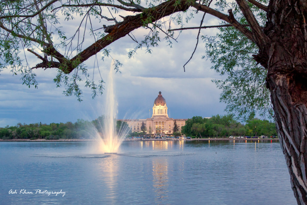 the Legislative Building in Wascana Park