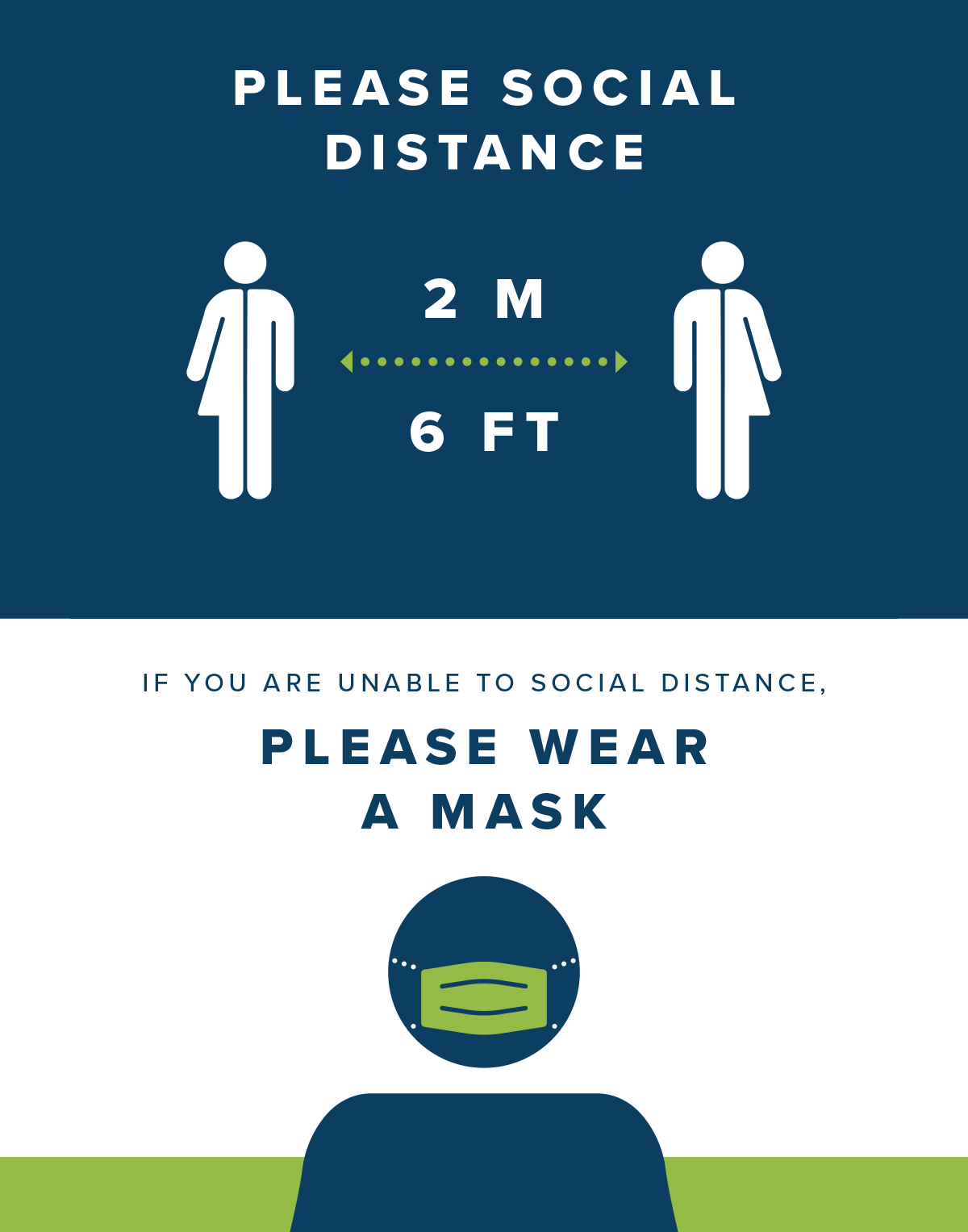 please social distance and where a mask if you can't