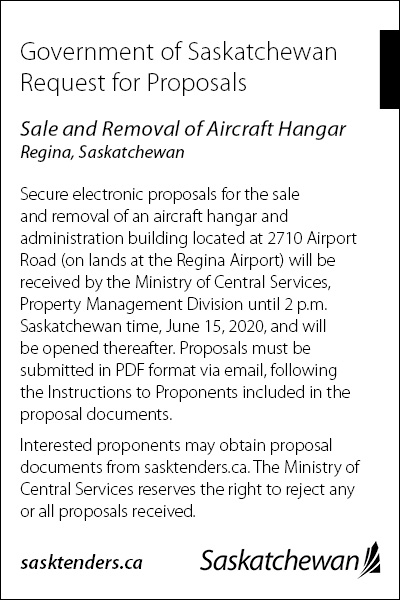 Sales and Removal of Aircraft Hangar Request for Proposal Ad Creative